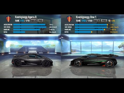 asphalt 8 koenigsegg one 1 less than 1mil to max with doovi. Black Bedroom Furniture Sets. Home Design Ideas