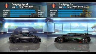 Asphalt 8: Airborne - Koenigsegg Agera R vs Koenigsegg One: 1 (Gameplay PC)