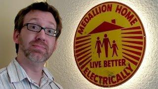 Living Better Electrically! Restoring a Vintage Medallion Home Sign