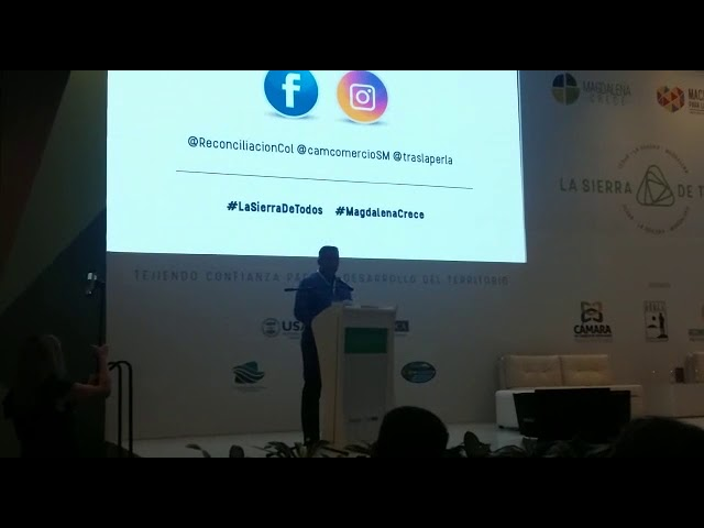Alfonso Lastra, presidente ejecutivo de Cámara de Comercio abre el evento Magdalena Crece
