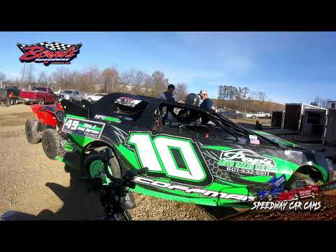 #10 Tony Coffman - Mini Stock - Heat & Feature - 2-2-20 Boyds Speedway Cabin Fever - In-Car Cam