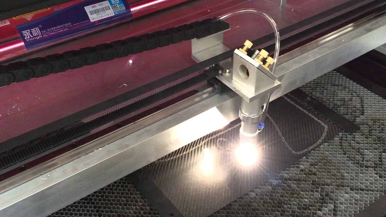 Co2 Laser Cutting Machine For Carbon Fiber Youtube