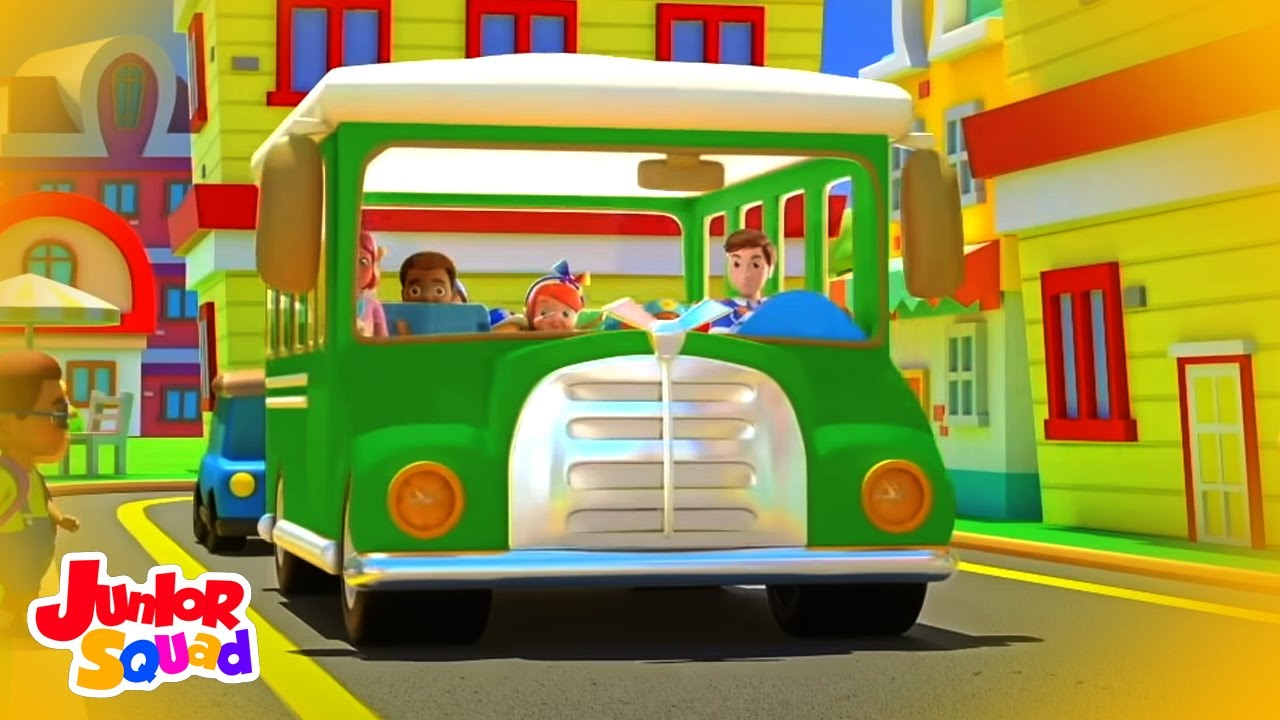 Roues sur le bus | Comptines bébé | Dessins animés | Junior Squad Française | Préscolaires