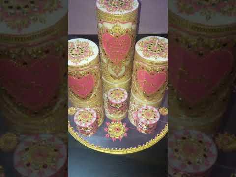 Candles set  deco thaal (bougies décoratif)
