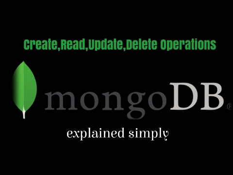Start MongoDb and perform crud operations (create,read,update,delete MongoDb Document) in MongoDb