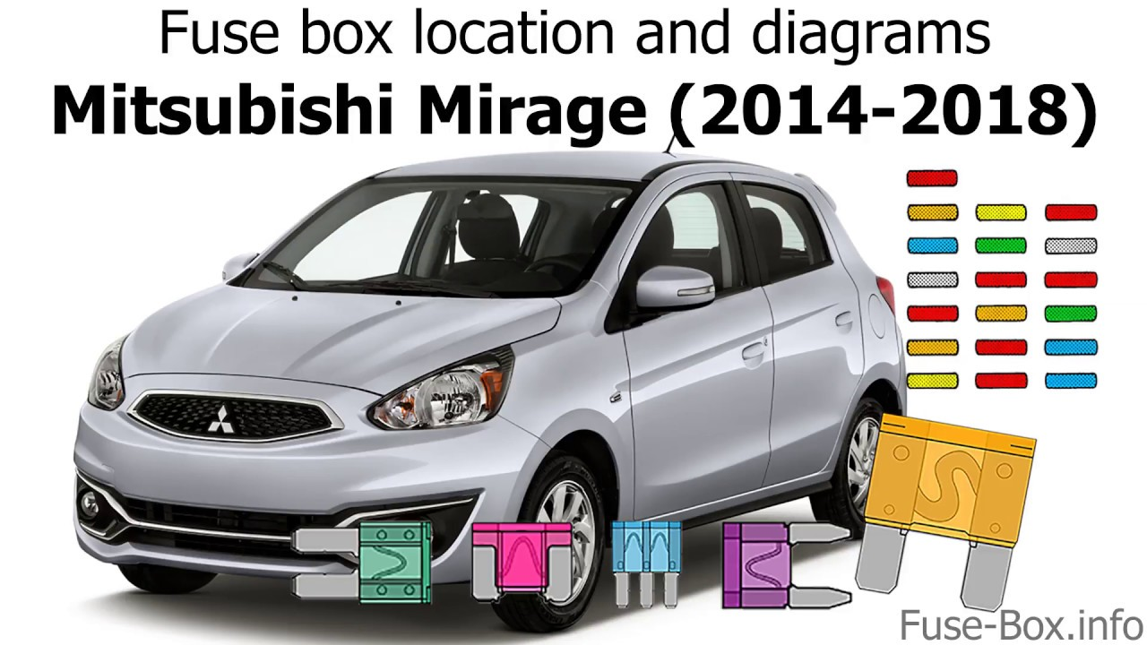 medium resolution of fuse box location and diagrams mitsubishi mirage 2014 2018 youtube 2014 smart car fuse box location 2014 car fuse box