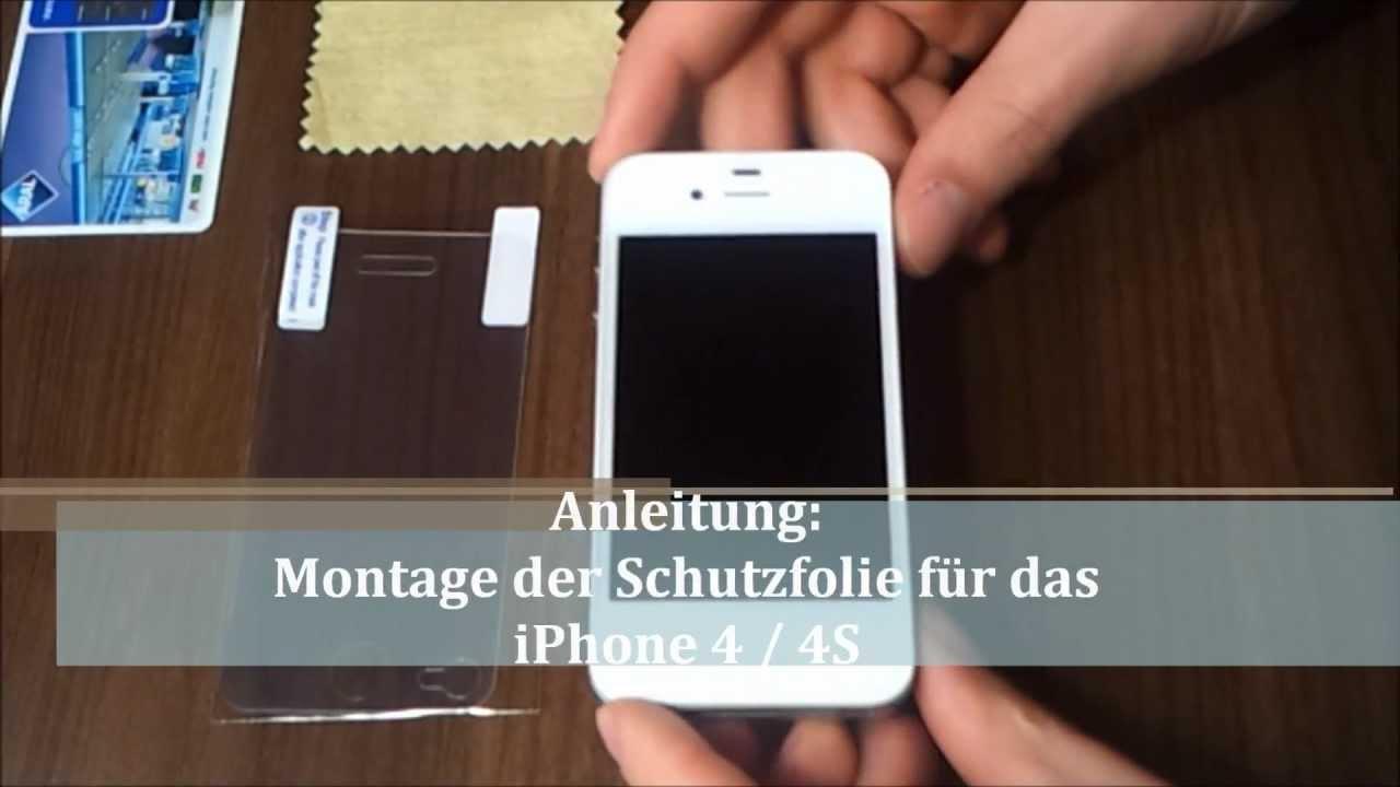 Iphone 4 4s Anleitung Schutzfolie Anbringen Ohne Blasen
