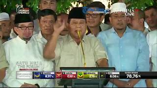 Prabowo Subianto Klaim Hasil 'Real Count' Menang 62%