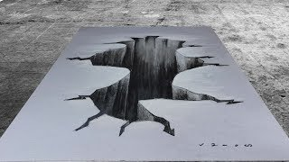 THE GATEWAY - Drawing 3D Gap Hole - Trick Art on Paper