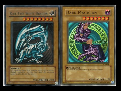 Image result for blue ice white dragon vs. dark magician cards