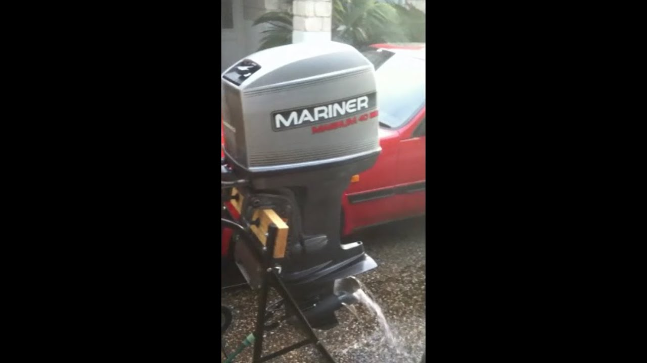 40hp mariner magnum 4 cyl 2 stroke outboard running youtube rh youtube com 30 HP Mariner Outboard Motor 30 HP Mariner Outboard Motor