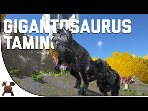 GIGANOTOSAURUS RIDING/TAMING - Ark Survival Evolved (Part 29: Ark Fear Evolved)