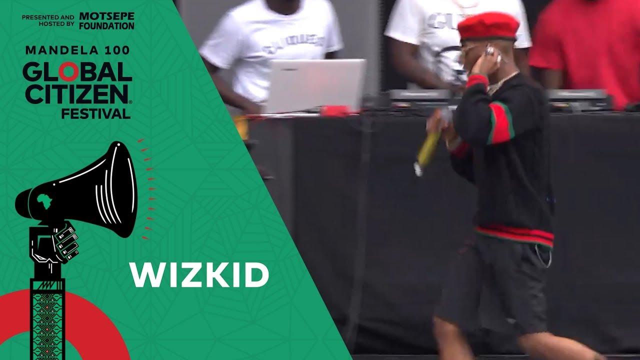 "Wizkid Performs ""Ojuelegba""   Global Citizen Festival: Mandela 100"