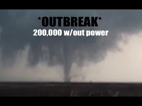 200,000 w/out power | Destructive Tornado Outbreak