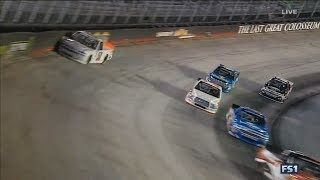 NASCAR Camping World Truck Series 2017. Bristol Motor Speedway. Josh Reaume Crash