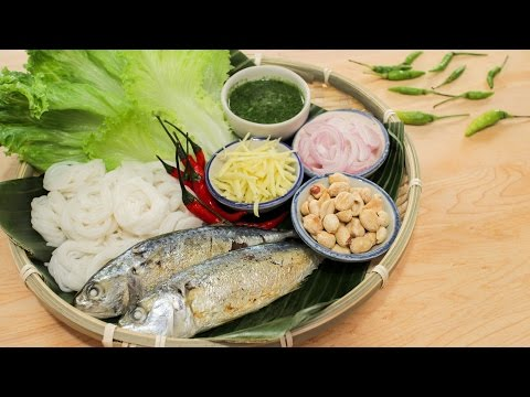 "Mackerel Lettuce Wrap Recipe ""Miang Pla Too"" เมี่ยงปลาทู - Hot Thai Kitchen!"