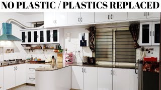 Plastics Replaced Kitchen Counter Top Organization in Tamil| Kitchen Counter Top Organizing Ideas|