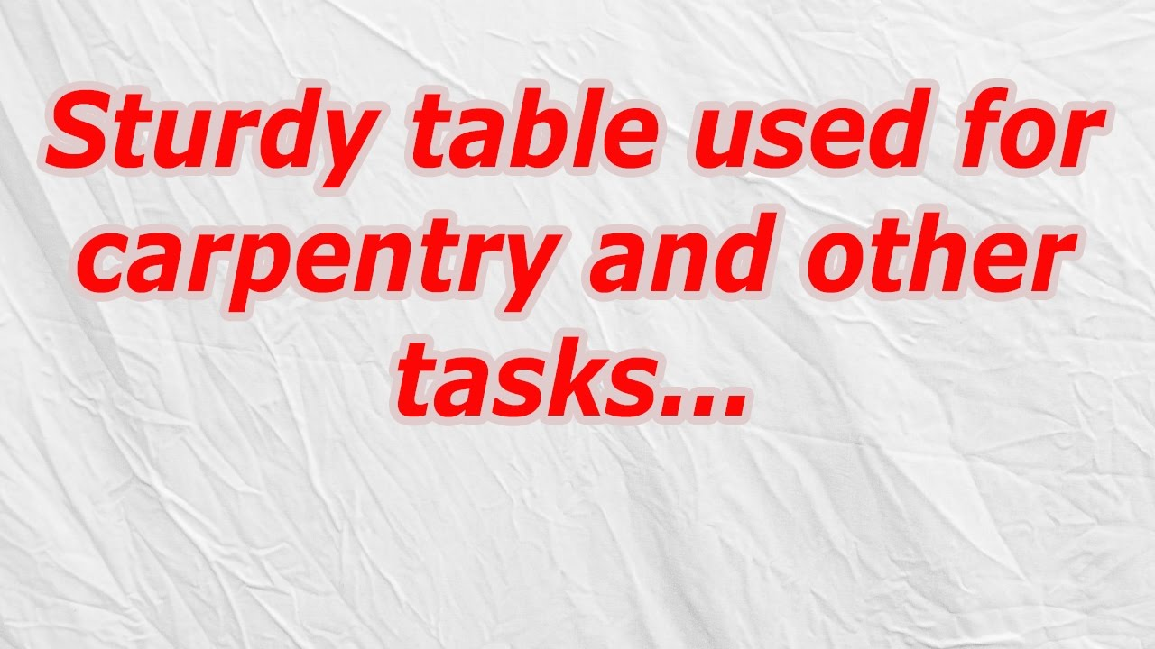 Study Table Used For Carpentry