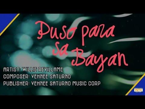 Willie Revillame - Puso Para Sa Bayan (Lyric Video)