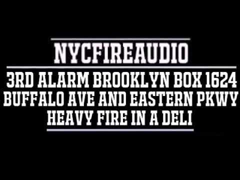 NYCFireAudio - FDNY Brooklyn 3rd Alarm Box 1624 Audio - Heavy Fire In A Deli - 8/17/18