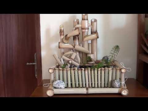 Dengan air mancur bambu ini bikin tenang