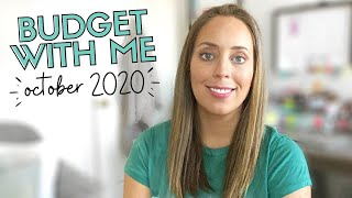 October 2020 Budget PAYCHECK  BUDGETING / Budget With Me - What to Budget for in October