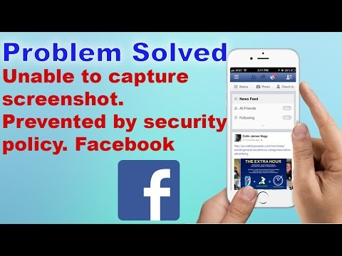 [Fixed Sep 2018] Unable to capture screenshot. Prevented by security policy. Facebook 2018