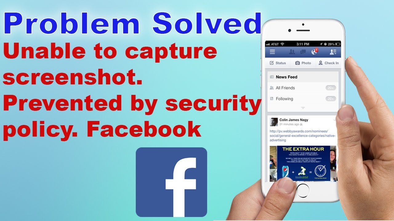 [Fixed Aug 2019] Unable to capture screenshot  Prevented by security  policy  Facebook 2019