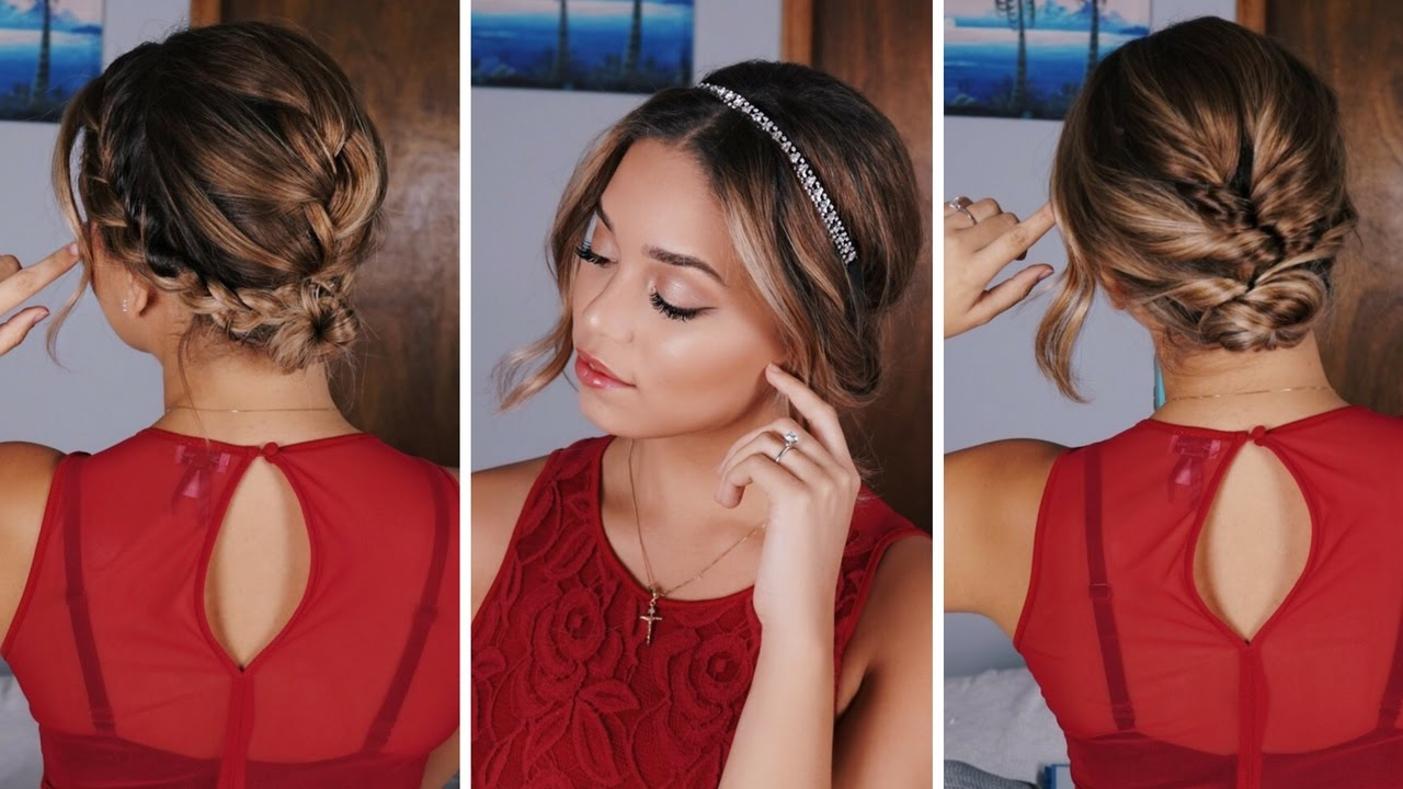 3 simple holiday hairstyles for short/medium length hair | ashley bloomfield