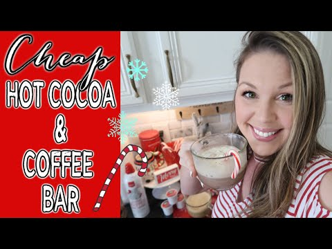 CHEAP‼ DOLLAR STORE + TARGET DOLLAR SPOT HOT COCOA + COFFEE BAR | CHRISTMAS 2019 | HOW TO