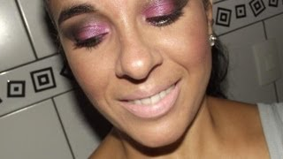Makeup Rosa e marrom