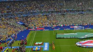 vuclip Sweden and Rep. Ireland teams entrance and National Anthems, Euro 2016, Stade de France Paris