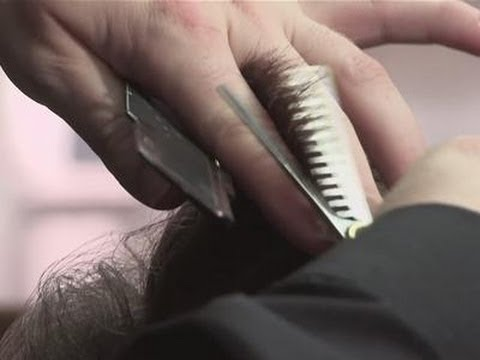 How To Cut With Hair Thinning Scissors - YouTube