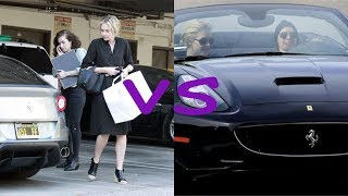 Portia de Rossi cars vs Ellen degeneres cars (2018)