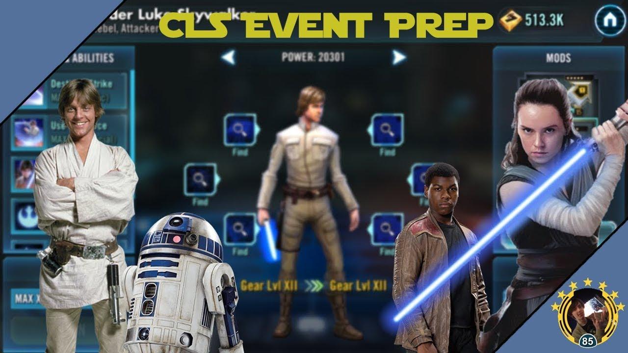 SWGoH - Event Prep - Preparing For Commander Luke & Jedi Rey Predictions