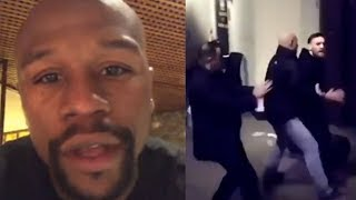 Floyd Mayweather Reacts To Conor McGregor Attacking Khabib's Bus