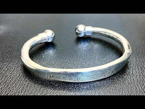 Making a Heavy Solid Silver Torque Bracelet Cuff! | Jewelry Making | DIY | How it's made | 4K Video
