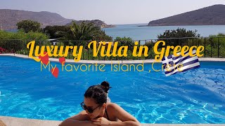 Greece Luxury Villa / hotel + room tour|Domes of Elounda| Marriott |Crete Island