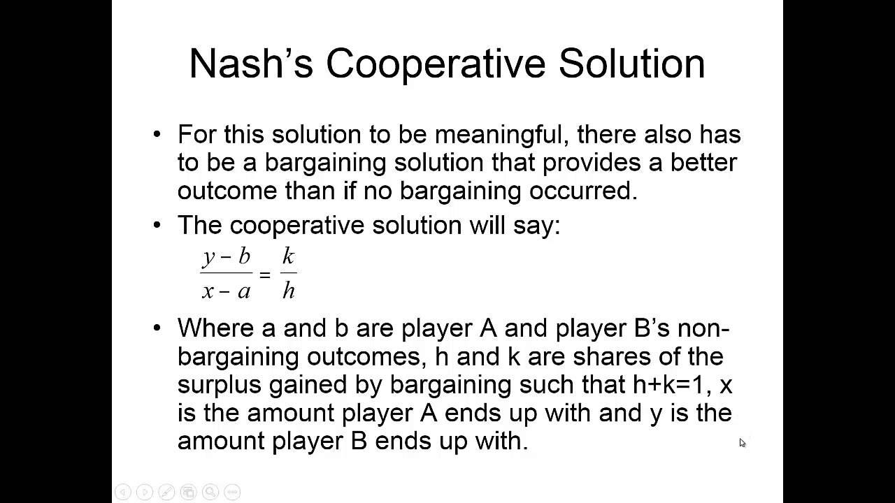 Game theory - bargaining