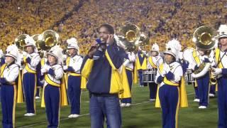 2011 WVU vs LSU:  Landau Eugene Murphy Jr sings the National Anthem
