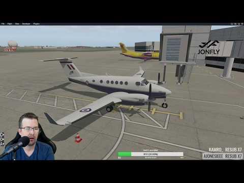Carenado B200 EGLL to EGBB FSEconomy X-plane 11