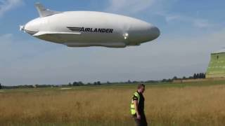 Airlander crash lands after second flight