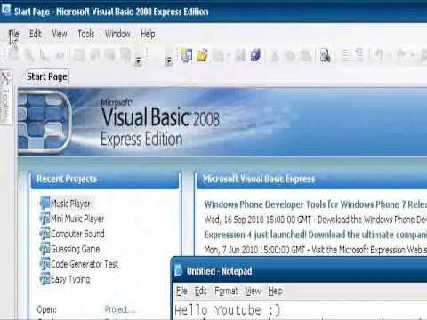 How To Make Code Generator VB 2008 - YouTube