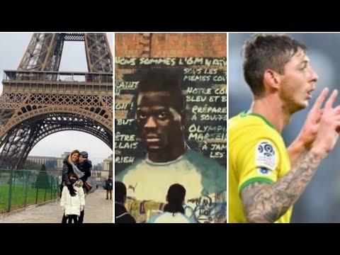 Officiel Balotelli à l'OM! Famille paredes à Paris , banderole hommage a sala