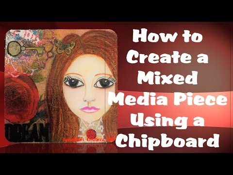 How to Create a Mixed Media Piece Using Chipboard