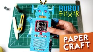 Walking Terror Robot - Paper Craft Toy Model Automaton