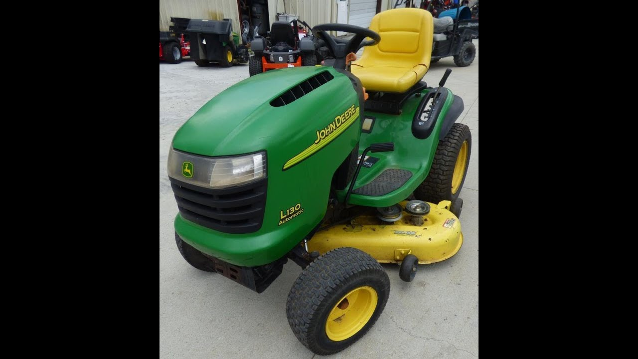 Used John Deere L130 Automatic 48 Lawn Tractor Kohler Engine