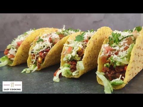 🌮Tacos recipe Vegetarian | quarantine cooking  | Easy Cooking Hub