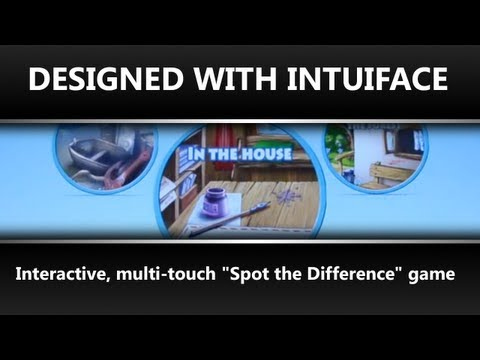 "Designed with IntuiFace: Interactive, multi-touch ""Spot the Difference"" game"