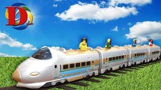 Мультфильмы про Машинки железная дорога Поезд. Железнодорожный транспорт и Лего. Обзор игрушки.